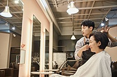 남성, 미용실 (상점), 헤어디자이너, 서비스, 헤어컷팅 (헤어스타일)