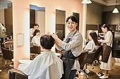 남성, 미용실 (상점), 헤어디자이너, 서비스, 헤어컷팅 (헤어스타일), 미소