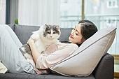 라이프스타일, 휴식 (정지활동), 행복, 고양이 (고양잇과), 반려동물 (길든동물)