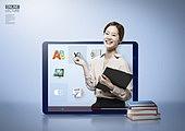그래픽이미지, 인터넷강의 (인터넷), 교육 (주제), 강사, 학원, 재택근무, 여성, 사회이슈 (주제)