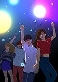 코로나바이러스 (바이러스), 코로나19 (코로나바이러스), 사회적거리두기 (사회이슈), 방심, 마스크 (방호용품), 밤의유흥 (컨셉), 클러빙 (밤의유흥), 바이러스