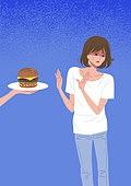 사람, 다이어트, 다이어트 (체형관리), 햄버거, 거식증