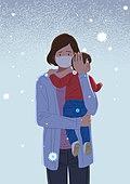 사람, 임신, 걱정, 어린이 (나이), 엄마, 바이러스