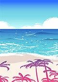 백그라운드, 백그라운드 (주제), 여름, 휴양지, 야자나무 (열대나무), 야자나무, 해변, 바다