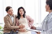 임산부,병원,산모,진료,임신,의사,부부