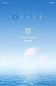 모바일백그라운드, 바다, 여름, 날씨, 풍경 (컨셉), 해변, 구름