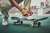 스케이트보드, 스케이트보딩, 익스트림스포츠, 준비, 운동화, 신발끈