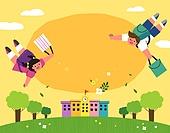 교육 (주제), 학교, 학생, 코로나바이러스 (바이러스), 코로나19 (코로나바이러스), 출석 (움직이는활동), 어린이 (나이), 소녀 (여성), 소년 (남성), 학교건물 (교육시설)