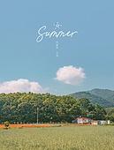 그래픽이미지 (Computer Graphics), 백그라운드 (주제), 여름, 여름방학, 맑은하늘 (하늘), 하늘풍경, 시골풍경 (교외전경), 자연 (주제), 여행지 (여행), 회복 (컨셉)