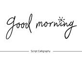 손글씨, 캘리그래피 (문자), 핸드라이팅 (문자), 알파벳 (문자), 인사 (제스처), 아침