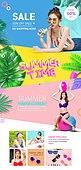 웹템플릿, 메인페이지 (이미지), 여름, 휴가 (주제), 여성, 비키니, 세일 (상업이벤트), 바디라인 (날씬함)
