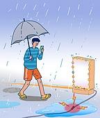 일러스트기법, 에너지자원, 여름, 폭염 (자연현상), 전기, 사고, 안전, 안전불감증 (컨셉)