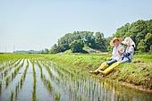 귀농, 시골풍경 (교외전경), 농부 (농촌직업), 농업 (주제), 벼, 시골풍경, 참외, 먹기