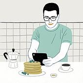 요리 (음식상태), 상반신, 라이프스타일, 취미, 집, 청년 (성인)