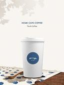 포장 (인조물건), 목업, 백그라운드, 커피 (뜨거운음료), 그림자