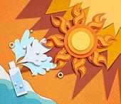 종이 (재료), 페이퍼아트, 뜨거움 (컨셉), 뜨거움, 여름, 태양, 자외선, 폭염