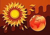 종이 (재료), 페이퍼아트, 뜨거움 (컨셉), 뜨거움, 여름, 태양, 자외선, 폭염, 지구 (행성)