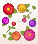 종이 (재료), 페이퍼아트, 꽃, 여름, 식물, 잎