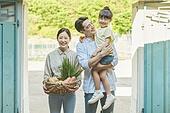 소녀 (여성), 행복, 귀농, 농업 (주제), 가족