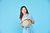 여성, 밝은청색 (파랑), 여행, 여름, 혼자여행 (여행)