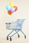 쇼핑카트 (소매업장비), 풍선, 다발, 빔 (상태)