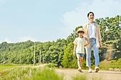 시골길 (보행로), 한국인, 행복, 어린이 (나이), 걷기