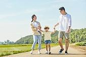 시골길 (보행로), 한국인, 행복, 어린이 (나이), 부모, 엄마, 아빠, 가족