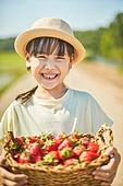 시골길 (보행로), 한국인, 행복, 어린이 (나이), 주말농장, 딸기, 수확, 유기농