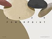 파워포인트, 메인페이지, 원형 (이차원모양), 재질, 조약돌, 레트로스타일 (컨셉)