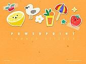 파워포인트, 메인페이지, 캐릭터, MZ세대, 다꾸, 다이어리, 스티커, 여름, 오브젝트 (묘사), 취미