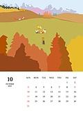 달력 (시간도구), 달력, 풍경 (컨셉), 계절, 2021년, 가을, 단풍나무 (낙엽수), 소풍