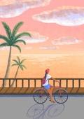 여름, 바다, 풍경 (컨셉), 휴가, 야자나무 (열대나무)