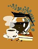 음식, 음료, 디저트, 잎, 커피 (뜨거운음료), 티라미수