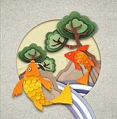 페이퍼아트, 전통문화 (주제), 프레임, 나무, 한국전통
