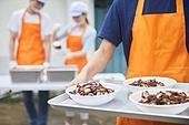 기부, 지역봉사활동 (사회복지), 사회복지, 요리사, 직업, 음식서빙 (움직이는활동), 쟁반