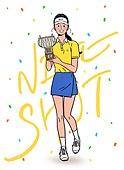 레저활동 (활동), 취미, 운동, 골프, 골퍼 (선수), 꽃가루, 여성 (성별), 트로피