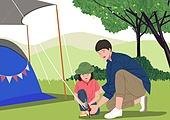 캠핑, 취미, 여가 (주제), 캠핑 (아웃도어), 휴가, 휴가 (주제), 텐트