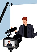 1인미디어 (사회이슈), 대중매체 (주제), MCN, 시작버튼 (버튼), 영상 (모든어휘), 카메라