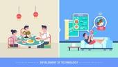 사람, 라이프스타일, 발전 (컨셉), 기술 (과학과기술), 4차산업혁명 (산업혁명), 음식서비스직 (서비스업), 배달 (일), 모바일앱 (인터넷)