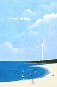 백그라운드 (주제), 풍경 (컨셉), 여름, 자연풍경, 여행, 휴가, 휴식, 휴가 (주제), 해변