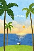 백그라운드 (주제), 풍경 (컨셉), 여름, 자연풍경, 여행, 휴가, 휴식, 휴가 (주제), 나무, 일몰 (땅거미)