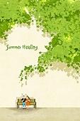 백그라운드 (주제), 풍경 (컨셉), 여름, 자연풍경, 여행, 휴가, 휴식, 휴가 (주제), 나무