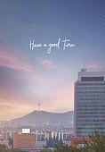 풍경 (컨셉), 백그라운드, 하늘, 땅거미 (여명), 서울 (대한민국)