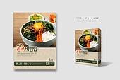 간편식, 음식, 포장 (인조물건), 목업, 요리 (음식상태), 상자 (용기), 한식, 전주비빔밥