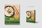 간편식, 음식, 포장 (인조물건), 목업, 요리 (음식상태), 상자 (용기), 한식, 전복죽