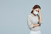마스크 (방호용품), 코로나19 (코로나바이러스), 감기예방마스크 (마스크), 감기, 두통