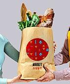상인 (소매업자), 스타트업, 패턴, 목업, 비즈니스, 가게, 종이봉지 (가방)