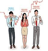 금융, 주권 (증명서), 주식시장 (금융), 자산관리, 자산관리 (금융), 투자, 비즈니스, 화이트칼라 (전문직), 30대 (장년), 그래프, 캘리그래피 (문자), 스마트폰