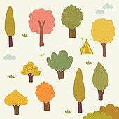 가을,일러스트,패턴