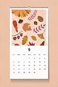 소띠해 (십이지신), 2021년, 달력, 벽걸이, 목업, 드로잉작품 (미술품), 가을, 9월